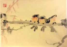 Uccellini su ramo